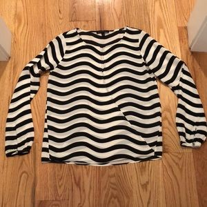 Banana Republic zebra print like blouse